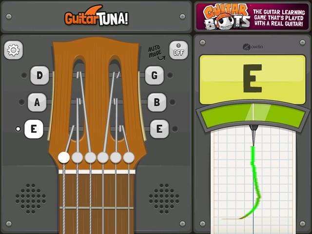 I used Guitar Tuna to tune my guitar. It's good for guitar newbies like me!