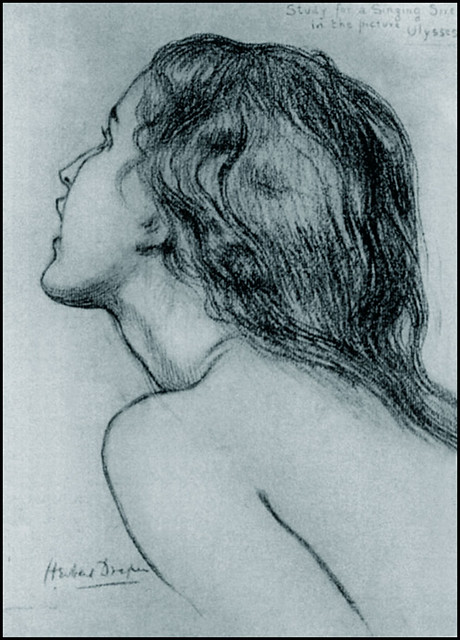 Study of Janet Fletcher for Ulysses and the Sirens, 1909