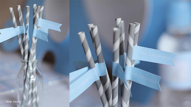Nice Party cumpleaños azul y blanco