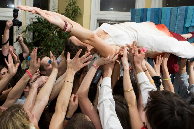 and then i crowd-surfed