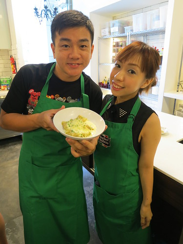 Singapore Lifestyle Blog, Cheese, Singapore Food Blog, Chef Lino Sauro, Palate Sensations, Cooking Classes, Cooking with Chef Lino, Perfect Italiano, Perfect Italiano Cheese, Perfect Italiano Masterclass, Masterclass with Chef Lino, Perfect Italiano Mozzarella Cheese, Perfect Italiano Parmesan Cheese, Perfect Italiano Pizza Plus Cheese, Cheese dishes, Wonton Ravioli with Soya Marinated Prawns and Parmesan Fondue, nadnut, Ching Chong Boy, nadnut cooks, Perfect Italiano recipes