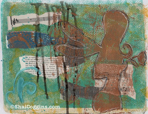 Magic: Mixed Media Gelli Monoprint