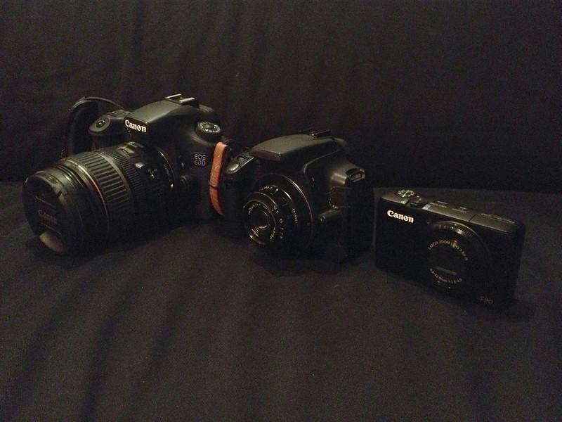 My Canon trio