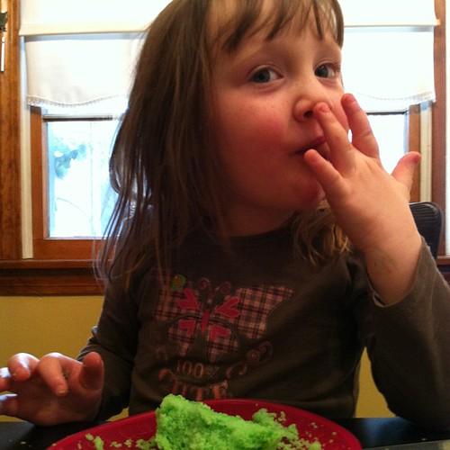 Green #cupcake for #stpatrick