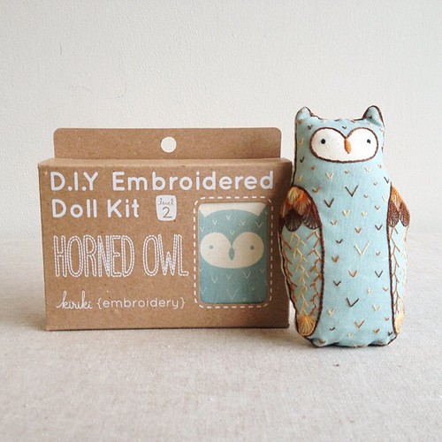 CUTE!! @art_attic stitched up the Horned Owl doll.