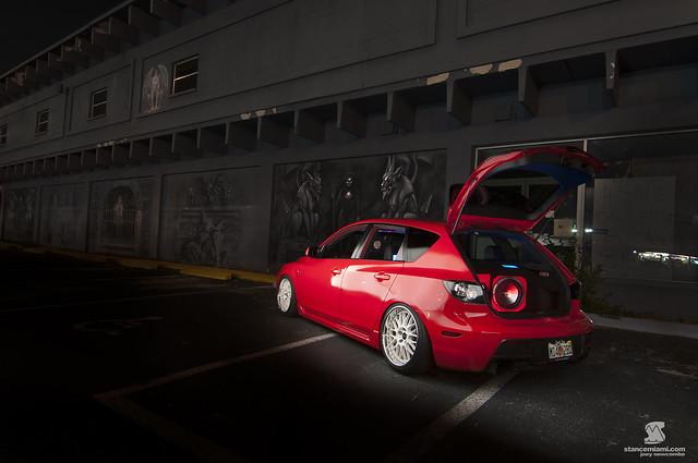 Mazda at Night StereoWM