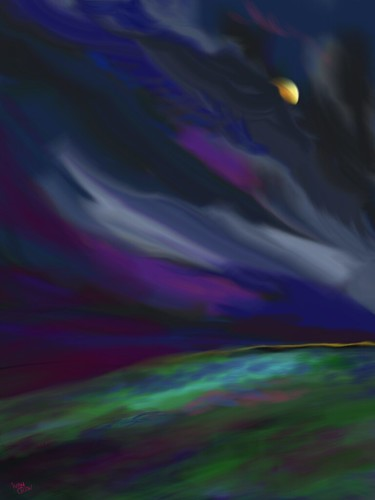 """Windy Night over the Moor"" (#42: Project 365 Sketches)"