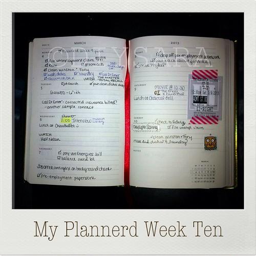My Plannerd Week Ten