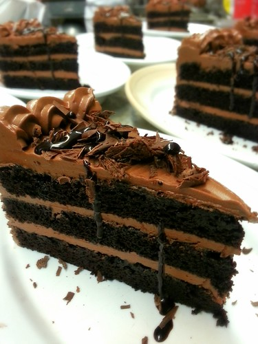 devils food cake with chocolate buttercream frosting by pipsyq