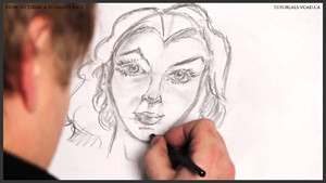 draw a womans face