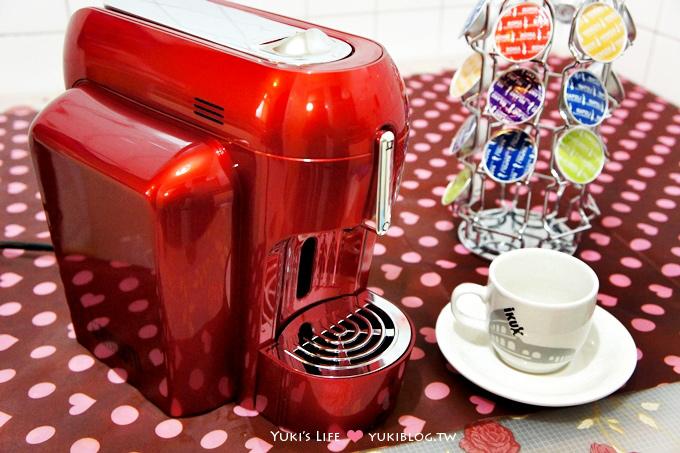 [體驗]*BIALETTI MINI-X1 膠囊咖啡機(時尚法拉利紅)‧30秒品嚐原味義大利香醇咖啡