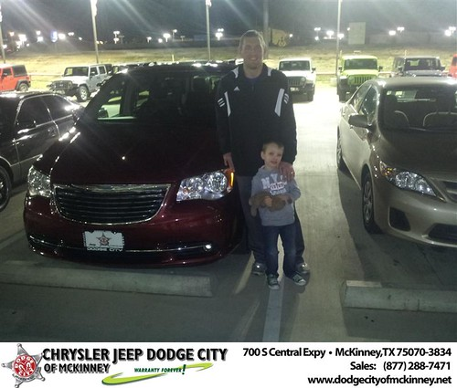 Congratulations to Justin Koons on the 2012 Chrysler Town & Country by Dodge City McKinney Texas