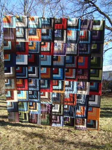 Split Log Cabin quilt