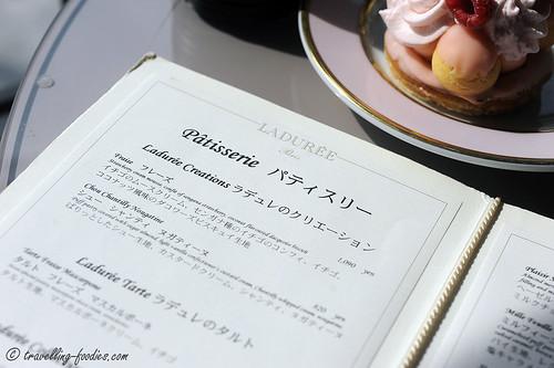 laduree menu
