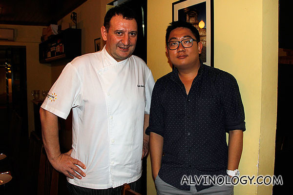 Me with Chef Carlo