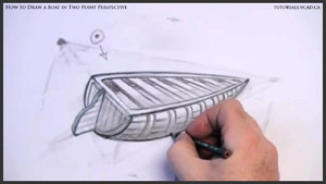 draw a boat in two point perspective