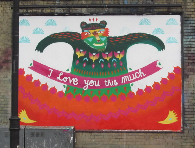 London Art Wall: 'Will You Marry Me?' by Animaux Circus