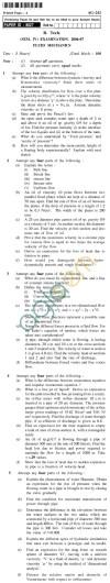UPTU B.Tech Question Papers - AG-242 - Fluid Mechanics