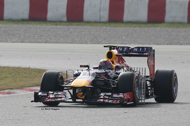 Mark Webber's Red Bull in Formula One Winter Testing 2013