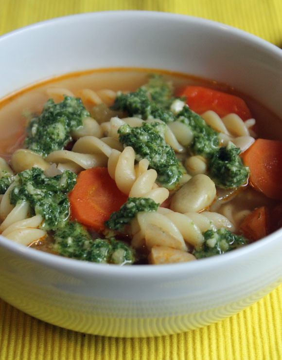 Gemüsesuppe auf südländische Art