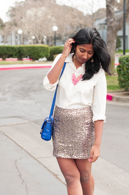 How to wear a Sequin Skirt-4