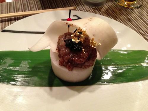 Sweet Shrimp Tartare w/ Caviar & Truffle