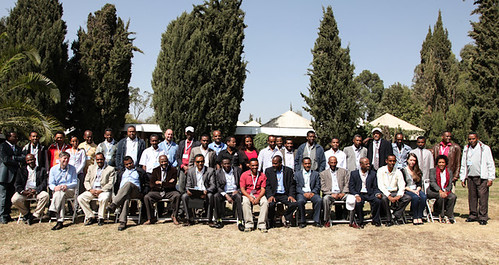 Participants of Lessons and success stories from a pilot project on climate change adaptation interventions in Kabe watershed workshop (Credit: ILRI/Zerihun Sewunet)