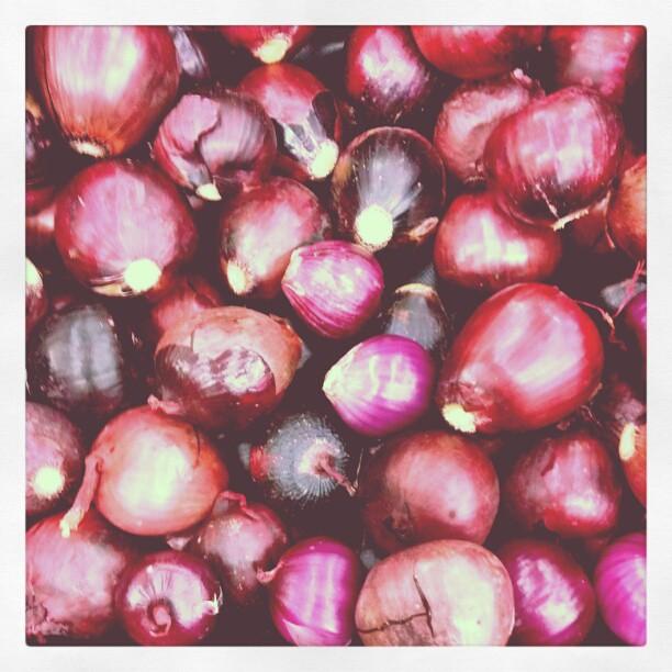 Australian purple onions at a supermarket
