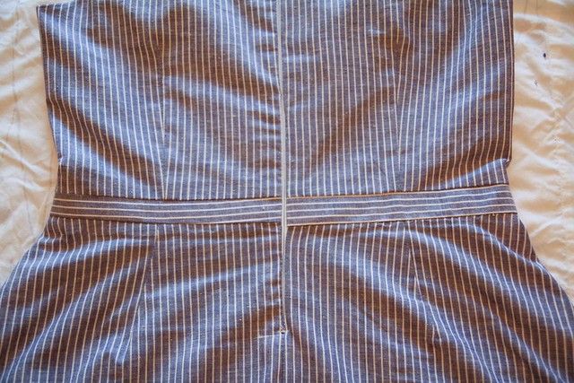invisible zipper and (slightly imperfect) waistband