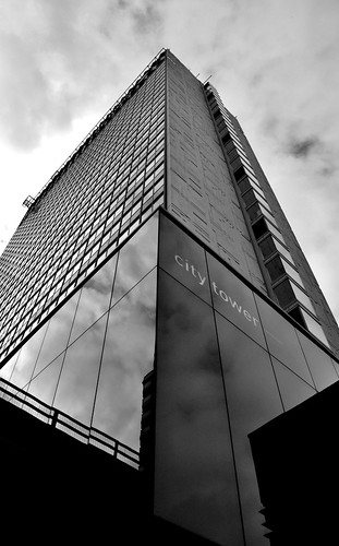 Low angle shot @UKFast City Tower by Angela Seager