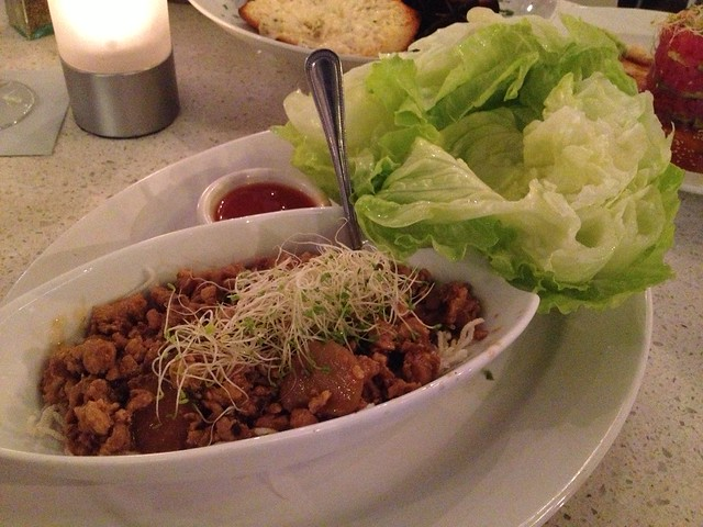 Chicken lettuce wraps - Lulu California Bistro