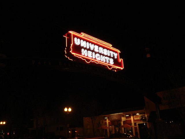 University Heights neighborhood sign