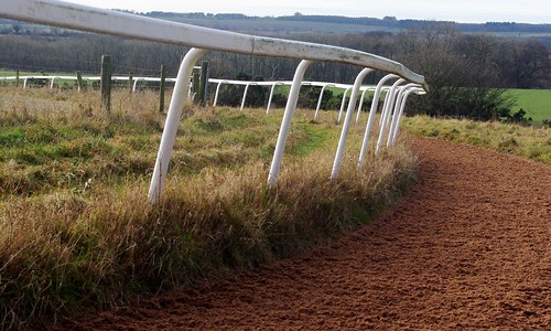 20121202-19_Horse Training Race Track + Railings - Cotswolds by gary.hadden