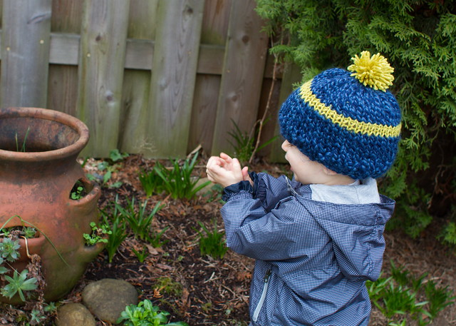 simple knitted boy hat