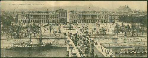 1400 R Paris a Pariz - Pont et Place de la Concorde  - C.L.C.~ 1900.