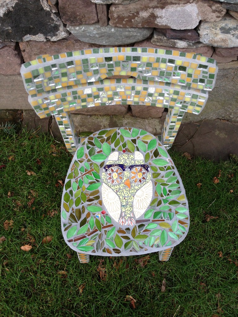 Owl Chair Owl Chair Chair With Owl Seat Mixture Of Wine Bottle Glas Flickr