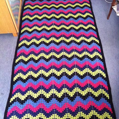 Finished! #blanket #afghan #crochet #þóraheklbók #bugða