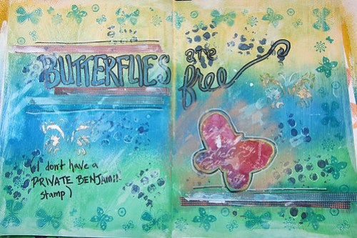 Art Journal: Butterflies are Free
