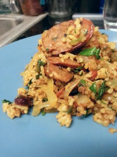 chorizo rice by pipsyq