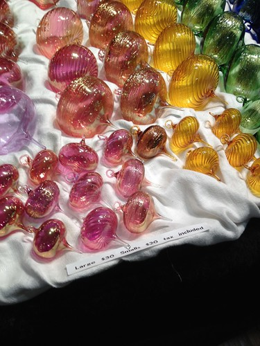 Glass decorative ornaments at American Craft Council by rjknits