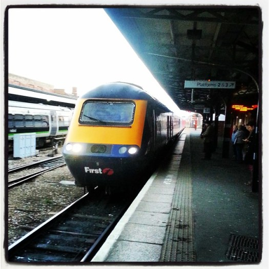 HST at Worcester Shrub Hill