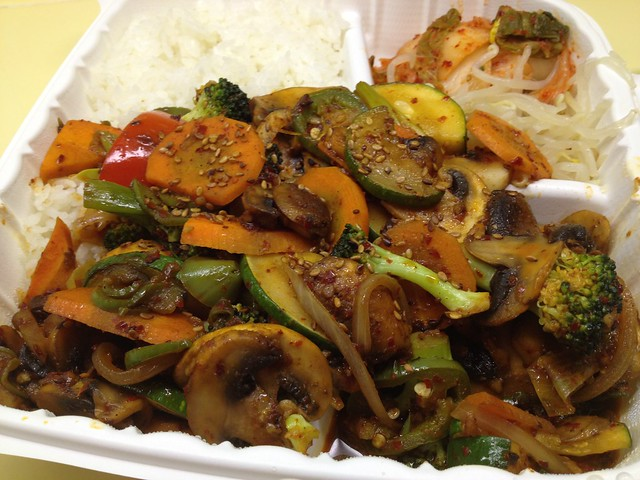 Veggies and mushrooms - Hahn's Hibachi