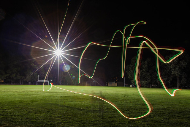 Quodcopter light painting