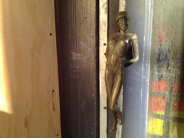 Naked lady door handle