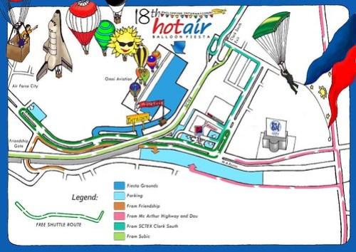 Clark Hot Air Balloon Fiesta Map