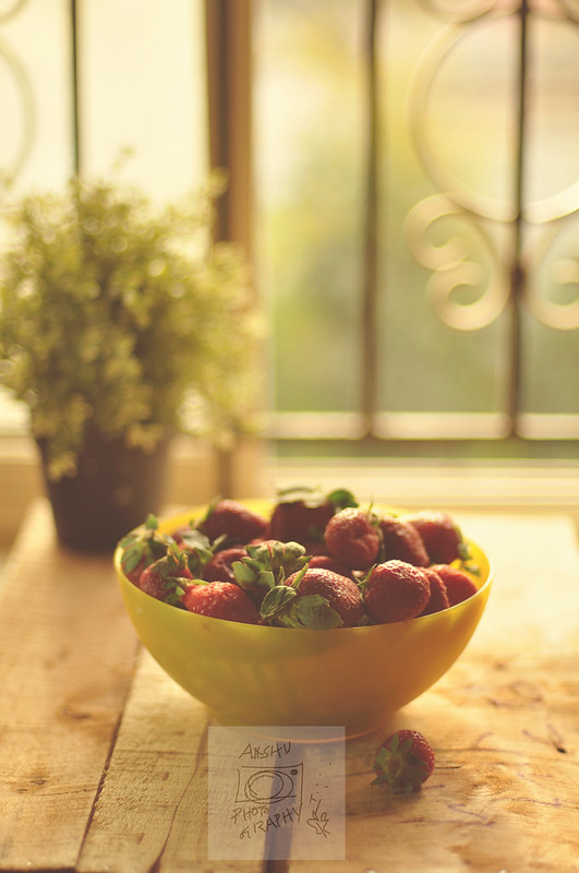 Day 44.365 - Strawberries in Yellow Bowl