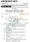 UPTU B.Tech Question Papers -EC-024 - Multimedia Communications