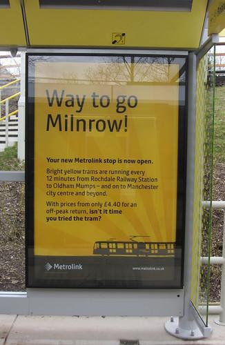 Milnrow station poster