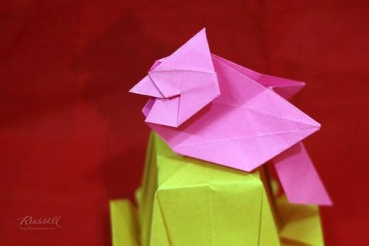 Origami Northern Cardinal