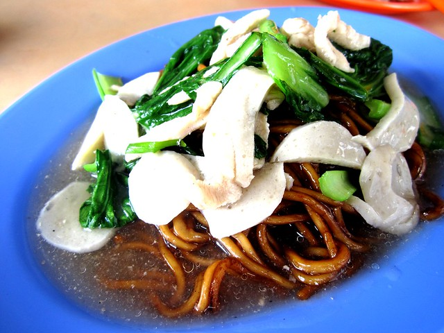 Foochow fried noodles, wet - clear gravy